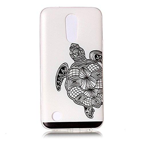 LG K10 2017 Hülle, Cozy Hut® [Liquid Crystal] Soft Flex Silikon [Crystal Clear] Transparent Ultra Dünn Schlank Bumper-Style Handyhülle Premium Kratzfest TPU Durchsichtige Schutzhülle für LG K10 2017 Case Cover - Schildkröte