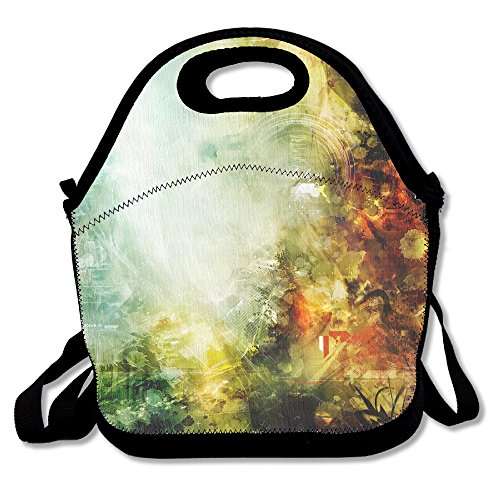 Neopren Lunch Tote–Einzigartiges Design wiederverwendbar Kühler Wasserdicht Tasche für Herren Frauen Erwachsene Kinder Kleinkinder Krankenschwestern mit verstellbarem Schulterriemen–Beste Reisetasche (Frühstück-kühler)