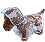Zoonpark® poncho impermeabile per cani, poncho per cuccioli leggero, impermeabile, trasparente, in plastica per cani di taglia piccola o media.