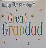 Happy Birthday Card - Great Grandad 90th Birthday - Handmade Card