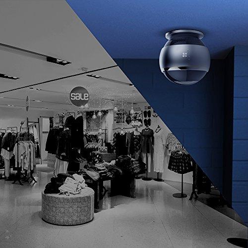 EZVIZ ez360 Pano(Mini Pano), 3 Megapixel WLAN-Fischaugen-Kamera mit Nachtsicht, 360-Grad-/Fischaugen-Panoramaüberwachung, 2/4 Splitscreen, Mikrofon und Lautsprecher, 2.4 Ghz und 5 GHz Dualband-WLAN - 6