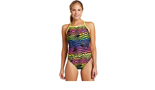 Speedo femme Flipturns Electric Zebra Endurance Lite Crédence Performance Maillot de bain