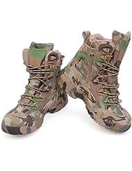WZG Männer taktische Stiefel im Freien warmen rutschfesten Schuhen, Schuhe CS Tarnung Kampfstiefel Wandern