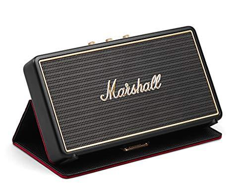 Marshall Stockwell Mono - Altavoz portátil (Bluetooth 4.0, USB, 25W, Bass-Reflex, Entrada Auxiliar de 3.5 mm, 100-240 V), Color Negro