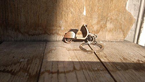 AtlantisForYou Moped Bronze Metall Schlüsselanhänger Modell Motorrad Schlüsselanhänger, Mini Motorrad Anhänger Schlüsselanhänger, Schlüsselanhänger, Herren Motorzubehör -