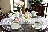 Neue europäische Stil Porzellan und Glas Tee-Set Tasse Teekanne Untertasse Kaffee Tasse grün