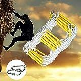 BAI-Fine Strickleiter Baum Haus Strickleiter Harz Hochhaus Sicherheit Flucht Seil Leiter Outdoor Training Strickleiter (Farbe : EIN, Größe : 10M)