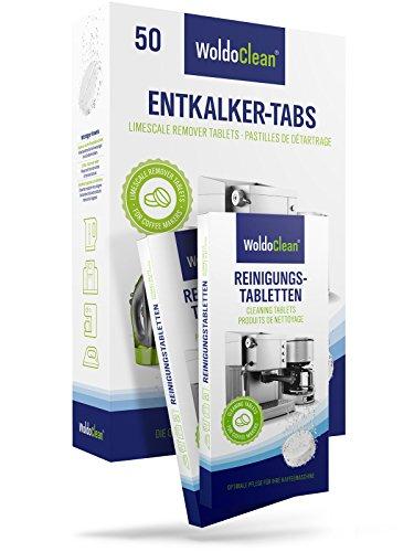 Kaffeemaschine Entkalkungstabletten & Reinigungstabletten Reinigungset Kaffeevollautomat - 50 Entkalkertabs & 20 Reinigungstabs in Blisterverpackung