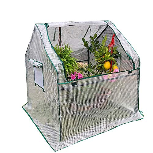 LIANGLIANG Gewächshaus Gartenpflanze Blumenhaus Warmschuppenstall Regenfester Kunststoff...