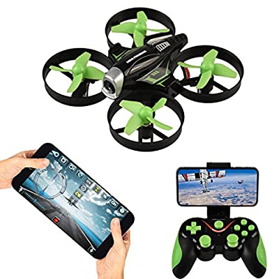 RC Quadcopter with HD FPV Camera,APP Voice Control RC Drone with Altitude Hold, Gravity Sensor and Headless Mode RC Helicopter 2.4GHz 4 Channel 6 AxisGyro