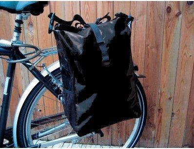 Gravidus Fahrradtasche aus LKW-Plane, wasserdicht (Schwarz)