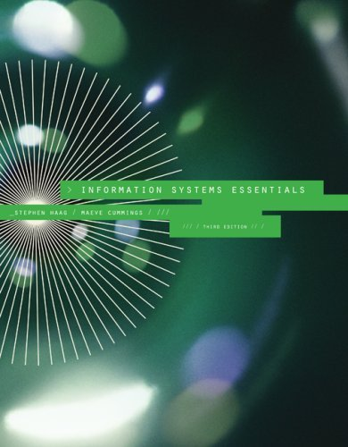 Information Systems Essentials by Stephen Haag (2008-09-24)