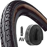 Continental Reifen Ride Tour E25 28x1,75 + Schlauch 47-622mm schwarz braun
