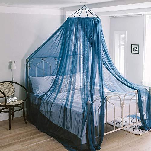 Bg Außenbereich Licht (LKOBN Moskitonetz Dome nordischen Stil Ins Bett Design Kristall grau Gericht Retro Prinzessin Decke hängen hängen kostenlose Installation Milchfarbe Bg)