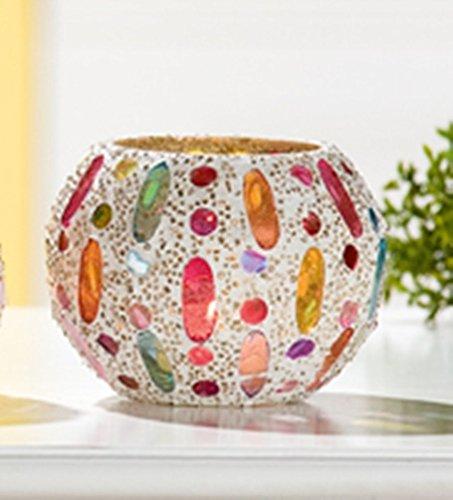 Guilde Boule décorative photophore Ellipsis Multicolore 9x 9cm