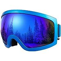 8ceb56b445 BFULL Ski Goggles para Mujeres y Hombres Niños con cerdas Use Ski Goggles  100% OTG