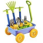 deAO Carriola e Attrezzi da Giardino per Bambini Gioco di Botanica e Giardinaggio Infantile Set Include 10 Accessori e 4… 51OD2f2TIJL. SS150