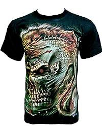 Rock Chang T-Shirt * Animal Skull * Glow In The Dark * Noir GR515