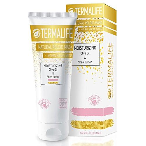 Termalife Moisturizing Schlamm-Maske - Extra feuchtigkeitsspendende Gesichtsmaske für trockene Haut - Naturkosmetik für Gesicht und Körper - natürliche Reinigung, Feuchtigkeitsmaske und Peeling - Tube 150 g für mind. 10 Anwendungen