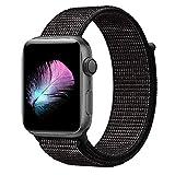 HILIMNY Für Apple Watch Armband 38MM, Nylon Armband Ersatz für iwatch Series 3, Series 2, Series 1 (Nike Schwarz, 38MM)