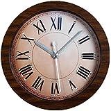GAOHL Remache cosecha alarma y creativos relojes madera y reloj antiguo despertador , brown