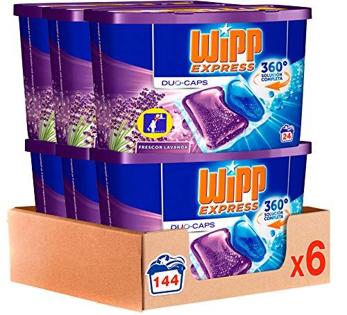 Wipp Express Detergente Cápsulas Lavanda - Pack de 6, Total: 144 lavados
