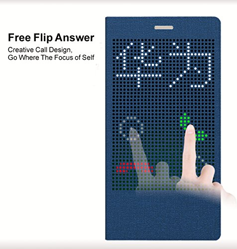 SongNi Huawei P8 Max Hülle, Leather Free flip Answer PU for Huawei P8 Cover (Blue)
