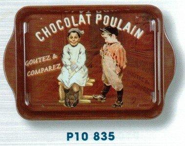 Cartexpo P10835 - Bandeja retro (metal, pequeña), diseño de chocolat
