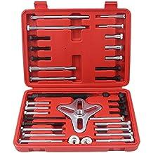 CCLIFE 46 piezas Extractor armónico Extractor de poleas armónico para barras estabilizadoras y volantes extraer