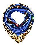 corciova Fashion Damen Big Seide wie Satin Haar Schal Kopfschmuck Kopftuch 88,9x 88,9cm Zubehör Gr. Einheitsgröße, 151 Blue