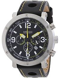 Nautec No Limit Herren-Armbanduhr XL Shamal Chronograph Quarz Leder SM QZ2/LTSTBK-YL