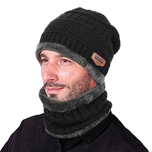 Vbiger Warm Knitted Hat and Circ...