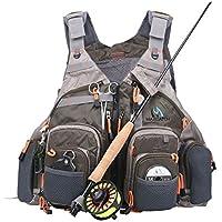 Maxcatch Paquete de chaleco de pesca con mosca (chaleco de pesca / mochila de pesca / paquete de cabestrillo de pesca) (Chaleco V-Mesh (estilo chaleco))
