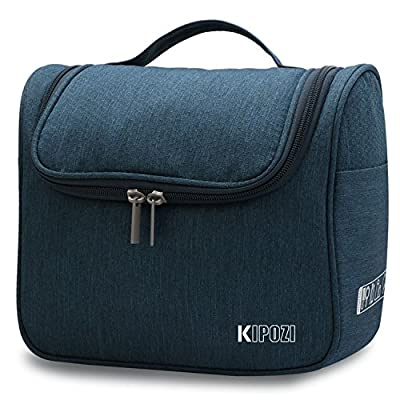 KIPOZI Travel Hanging Toiletry Bag Cosmetic Make Up Wash Bags organiser Shaving dopp kit Bag with Extra Hook for men & women / ladies - inexpensive UK light shop.