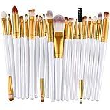 Make-up kwastenset (20 stuks) - make-up kwastenset - cosmetische borstel - grootte 15 cm - synthetisch haar - make-up kwast v