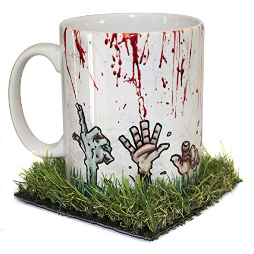 verytea Zombies Rising from The Grave Taza con Posavasos de Hierba