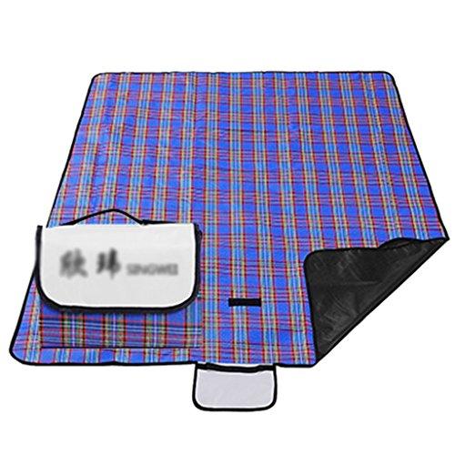 TYJ Picknick-Decken Picknick-Matten Feuchtigkeitsfeste Pad Outdoor Oxford Cloth Portable 3 -4 Menschen Beach Blue ( Farbe : Blau , größe : 200*150cm )