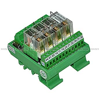 Shavison Relay Module AS363-24V-S-OE, 1C/O, 4 Channel, 24VDC Coil, OEN Relay, Reverse Blocking Diode, Socket Mounted Relay, Contact Rating : 28VDC/230VAC, 5A