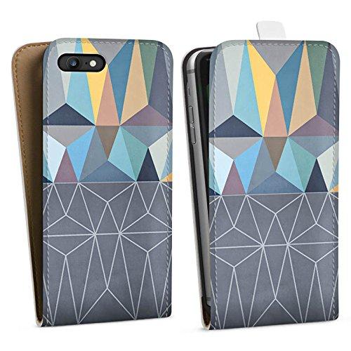 Apple iPhone X Silikon Hülle Case Schutzhülle Muster Grafisch Abstrakt Downflip Tasche weiß