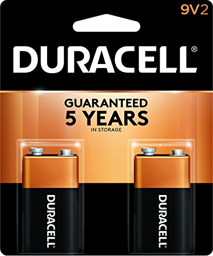 CopperTop Alkaline Batteries with Duralock Power Preserve Technology, 9V, 2/Pack, Sold as 1 Package Duracell Coppertop 9v Batterien