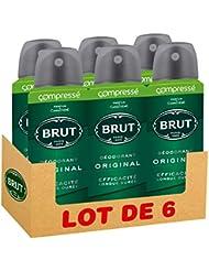 Brut Déodorant Homme Spray Compressé Original, Spray de 100ml (Lot de 6x100ml)