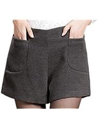 c777580f65bc Frieda Fashion - Damen Modische Winter Shorts mit hohem Bund, 36-44, Viele