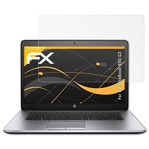 HP EliteBook 850 G3 Displayschutzfolie - 2 x atFoliX FX-Antireflex blendfreie Folie Schutzfolie