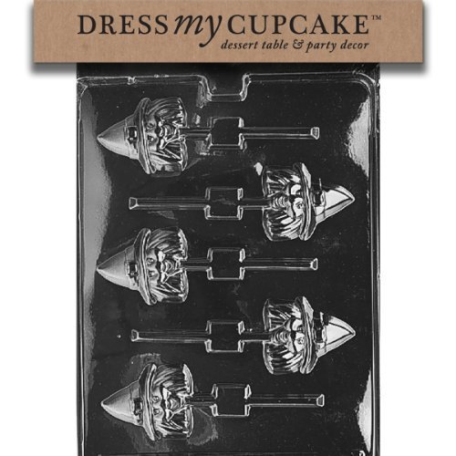 Dress My Cupcake dmch068 Chocolate Candy Mold, testa Lollipop strega, halloween vestito da My Cupcake