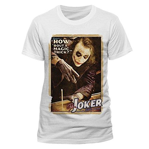 BATMAN THE DARK KNIGHT Batman The Dark Knight Magic Trick-T-shirt  Uomo    bianco Medium