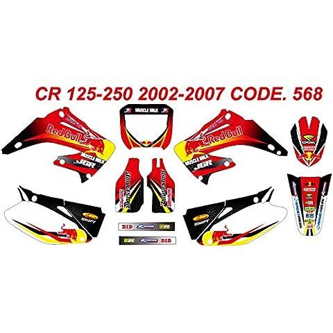 568 HONDA CR 125-250 2002-2007 gráficos KIT