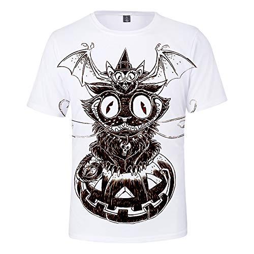 3D T-Shirt Unisex HD Gedrucktes Rundhalsausschnitt Lässig Mit Print Kurzarm Top Halloween XL