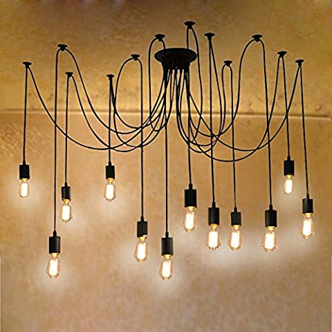 Chandelier Lights, 12 Lights Antique Creative Fairy Vintage Edison Lamp