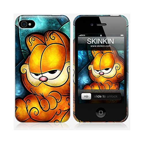 Coque iPhone 5 et 5S de chez Skinkin - Design original : Garfield par Mandie Manzano Coque iPhone 4