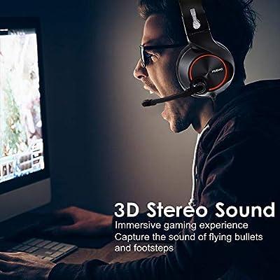 NUBWO PS4 Gaming Headset, N11 Xbox One Stereo Cavo per PC Gaming Headset con Microfono Cancellazione del Rumore, Cuffie Auricolari con Volume & Controllo Mute per PC/Mac/PS4/Xbox 1 -Red